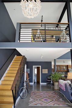 Color and open layout  Erin's Layered Bohemian Oakland Loft