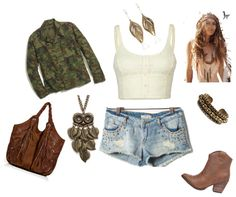 """Camo,Boho Outfit"" by jaylaahunniibunzz on Polyvore"