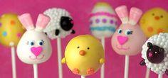 Easter Cake Pops, Home Made Marshmallow Peeps, Golden Chocolate Easter Eggs