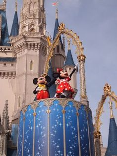 Mickey and Minnie on Castle stage