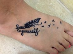 """""""Free Yourself"""" with feather and birds henna tattoo"""