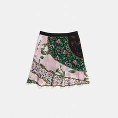 Mixed Print Circle Skirt - Alternate View A1