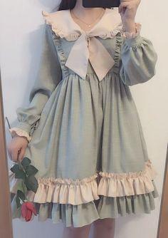 Lolita Palace Princess Retro Sweet Lovely Doll Collar Bowknot Flouncing Dress
