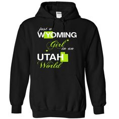 (WYJuxtXanhChuoi001) Just A 【title】 Wyoming Girl In A Utah WorldIn a/an name worldt shirts, tee shirts