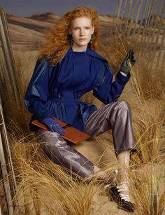 BALENCIAGA A/W 2012 Photographer: Steven MeiselStylist: Marie-Amélie Sauvé Model:Anniek Kortleve