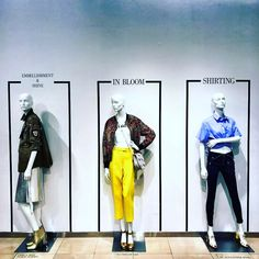 "SAKS FIFTH AVENUE, Boston, Massachusetts, ""An inspiring fashion line-up. Embellishment & Shine to being in Bloom with color and then to the current focus of all things shirting!"", words/photo by @miscellanyseven, pinned by Ton van der Veer"