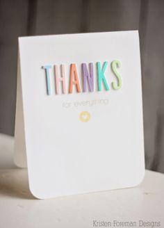 CAS Thanks card