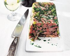 This stunning terrine is a great way to use up leftover Boxing Day ham, as either a starter or light lunch. Serve with a bread and a simple green salad. Ham Hock Terrine, How To Make Ham, Head Cheese, Simple Green Salad, Thing 1, Delicious Magazine, Meat Recipes, Party Recipes, Yummy Food