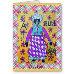 CATS RULE INVITATION CARD