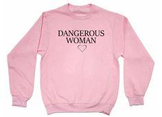 Mujer peligrosa Ariana bebé suéter rosa sudadera
