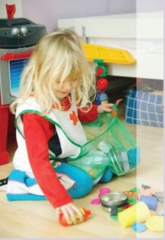 Little Helper Apron. For kids to wear while gathering small toys.