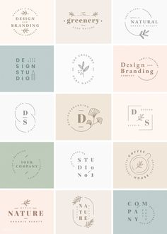 Floral brand and logo designs vector collection Simple brand and logo design ideas Resume Logo, Logo Branding, Corporate Branding, Bakery Branding, Bakery Logo Design, Corporate Design, Logo Inspiration, Packaging Design Inspiration, Type Logo