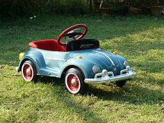 Dreaming! VW Bug Pedal Car Classic Blue New Collection for Kids and Collection | eBay