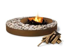 Luxury Outdoor Fire Pits at HomeInfatuation. This high design AK Zen outdoor fire pit would be great for any deck or patio. Outdoor Wood Fireplace, Outdoor Fireplace Designs, Modern Fireplace, Outdoor Fireplaces, Fireplace Ideas, Country Fireplace, Traditional Fireplace, Fireplace Mantle, Garden Fire Pit