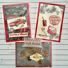 elizabeth's craft room: VIDEO New Spring Summer Catalogue and Classic Garage - Geprägte karten Masculine Birthday Cards, Birthday Cards For Men, Masculine Cards, Stampin Up Karten, Elizabeth Craft, Embossed Cards, Stamping Up Cards, Fathers Day Cards, Scrapbook Cards