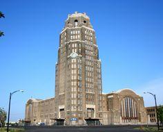 Buffalo Central Terminal, Art Deco, Buffalo, NY  http://upload.wikimedia.org/wikipedia/commons/4/40/Buffalo_Central_Terminal_1.jpg