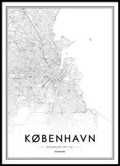Poster med köpenhamnkarta