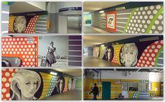 Stazione la Giustiniana - Murale di Tina Loiacono
