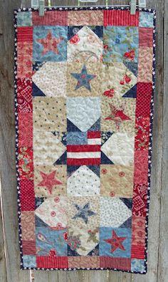 Pretty patriotic quilt