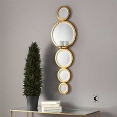 Uttermost Hailey Mirrored Candle Wall Sconce