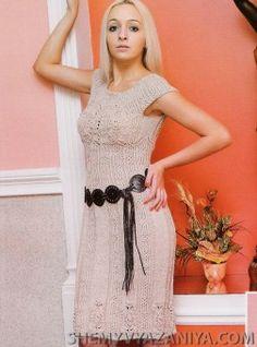 Платье фантазийным узором