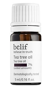You can definitely use the acne products you use on your face on your body. Use products containing salicylic acid (to deep clean and reduce acne-causing bacteria), tea tree oil (to destroy acne-causing bacteria and keep pores clean) and jojoba beads (to gently exfoliate skin and remove dead skin cells). Belif Tea Tree Oil $26
