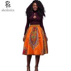 2016 zomer jurken voor vrouwen afrikaanse kleding dashiki rok Traditionele wax doek wax print batik puur katoen Plus Size S-4XL