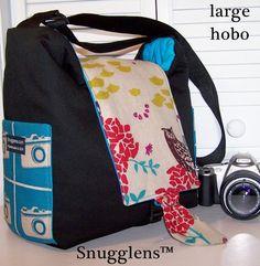 Digital Slr Hobo camera bag Lge - I do love me some Echino