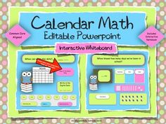 This is a great morning meeting activity that you can use on your interactive white board, without taking up a lot of valuable bulletin board space!  This product gives a daily review of Common Core Math and ELA standards as well as daily attendance.It is an editable powerpoint and is fully interactive, allowing students to drag objects to complete each page.