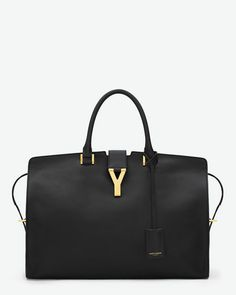 Grand Cabas Y in Black Leather - Ligne Y – Handbags – Gift Collection – Yves Saint Laurent – www.ysl.com
