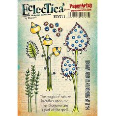 PaperArtsy Stamp Set - Eclectica³ Darcy 11
