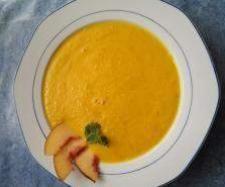 Rezept Möhren-Nektarinen-Suppe - veganes Gericht von Kathrin J - Rezept der Kategorie Suppen