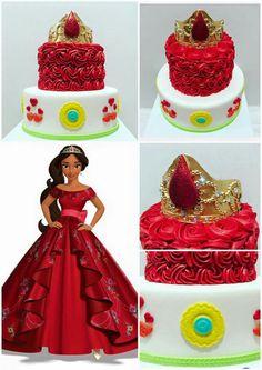 Elena of Avalor Bday Girl, Little Girl Birthday, Birthday Cake Girls, Birthday Diy, Princess Birthday, Princess Party, Birthday Cakes, Cute Birthday Ideas, Girl Birthday Decorations