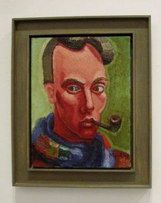 "Mário Eloy (1900 - 1951) was a modernist Portuguese painter . His painting shows an increasing unease, and in 1943 Anthonio Dacosta said: ""The painting of Eloy tightens like a knot a current and confused humanity, sad and speechless."" Suffering from Huntington's disease, was interned in 1945 at the Casa de Saúde do Telhal, coming up to his death in 1951."