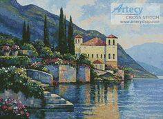 Artecy Cross Stitch. Reflections of Lago Maggiore Cross Stitch Pattern to print online.