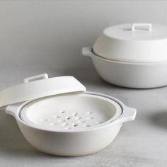 Kinto Kakomi steamer sharing pot white 2.5L