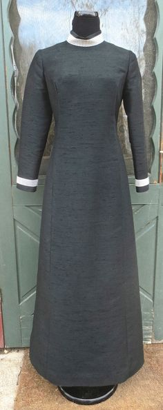 Vintage 1960s 1970s Back Silk Couture George by delilahsdeluxe, $97.50