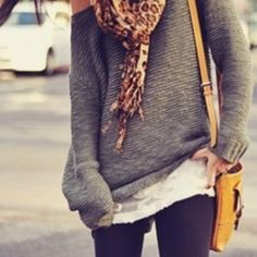 I love over sized sweaters.