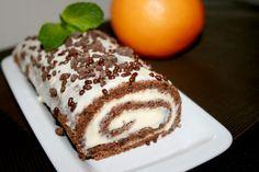 Шоколадный рулет с апельсином