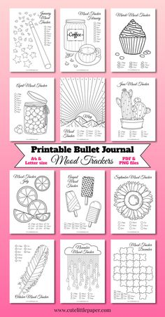 Bullet Journal Tracker, Bullet Journal Inserts, Bullet Journal Flip Through, Creating A Bullet Journal, February Bullet Journal, Bullet Journal For Beginners, Bullet Journal Writing, Journal Template, Bullet Journal Ideas Pages