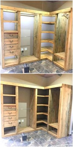 Erstaunlicher Paletten-Eckschrank Amazing pallet corner cabinet Related Post How To Quote Custom Painted Furniture (un)convention! San Antonio Rustic Hutch Stop looking for Diy Furniture Plans Laundry Baske. Pallet Furniture Plans, Diy Furniture, Furniture Design, Corner Furniture, Playhouse Furniture, Pallet Playhouse, Furniture Vintage, Industrial Furniture, Furniture Projects