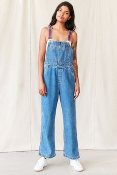 Vintage Tommy Hilfiger Red Strap Overall - Urban Outfitters
