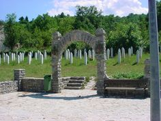 This is a picture of a Muslim cemetary I took in Kljuc, Bosnia on my visit this summer. These people very victims in the Balkan war