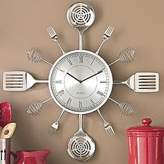 Update your kitchen décor with kitchen wall art and cheery kitchen accents. Order all you need with low monthly payments by choosing Country Door Credit. Kitchen Wall Clocks, Kitchen Dining, Kitchen Decor, Clock Wall, Kitchen Art, Kitchen Utensils, Kitchen Gadgets, Kitchen Ideas, White Kitchen Backsplash