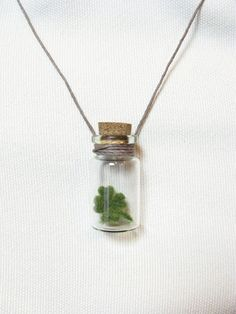 Tiny Four Leaf Clover Good Luck Charm Necklace