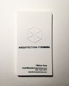 Arquitectura y sombra | business card | #new #image #design #designs #fresh #architect #architecture #boss #inspiration #inspirarional #arquitectura #oficina #office #arquitecto #tarjetadepresentacion #logo