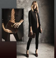"Daria Strokous for Massimo Dutti ""Winter Days"" Lookbook via FGR"