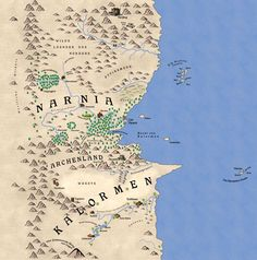 The country of Narnia and surrounding countries from the Chronicles of Narnia