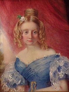 MINIATURE PORTRAIT - Georgian lady in a travelling case, attr W C  Ross - 1 of 3