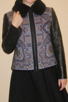 Я тебя слепила изтого,что было... Russian Fashion, Refashion, Casual Chic, Coats For Women, Nice Dresses, Leather Jacket, Street Style, My Style, Womens Fashion
